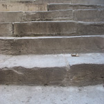 old worn stone steps